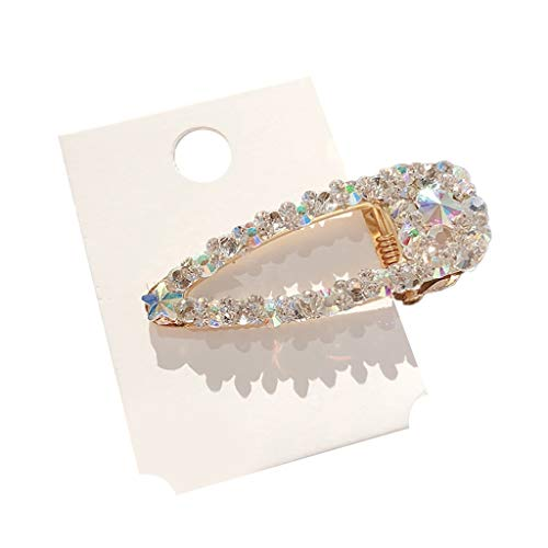 Mysky Women Pearl Diamond Hair Clip Bobby Pin Hairband Hairpin Barrette Comb Accessory