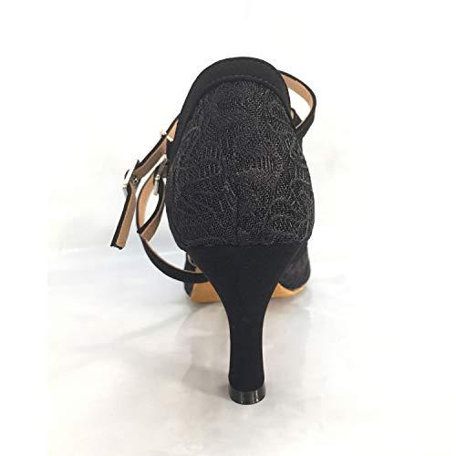 Damen Syrads Latein Schwarz Tanzschuhe Partei Standard Tanzschuhe Samba Salsa Soziale 5cm amp; Tango 7 rrnd4x