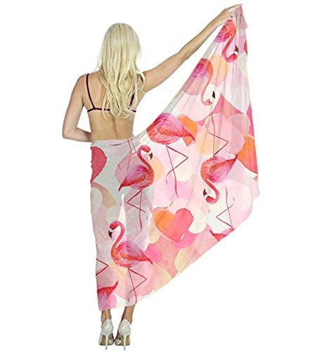 Women Scarf Large Flamingo Logo Cool Shawl Wraps for Evening Dress, Wedding Party by YESGOCO