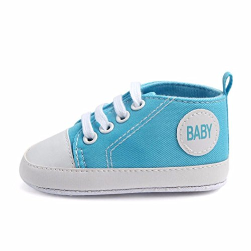 BZLine Baby Boys Girls Toddlers Canvas Sneakers Casual Outdoor Sneaker Himmelblau