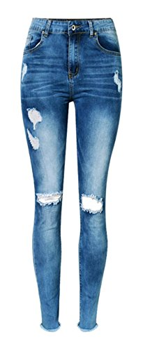 Womens Skinny Jeans Ripped Distressed product image