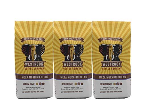 Westrock Coffee Company Meza Morning Blend, Medium Roast, 12-ounce Ground, 3-pack