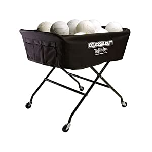 Tandem Sport Colossal Volleyball Ball Cart - Hold Up to 40 Balls