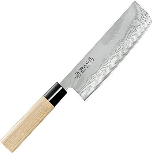 Damascus Kitchen knife 165 mm Nakiri Cooking Knige by Yokohama