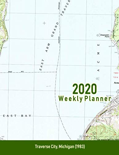 (2020 Weekly Planner: Traverse City, Michigan (1983): Vintage Topo Map Cover)