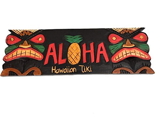 (Olga212Patrick ALOHA PINEAPPLE TIKI SIGN - 24