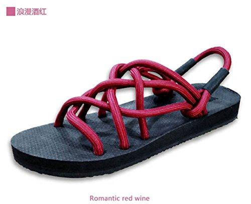 Accueil Couples Mesh Sandales 37 Strap Dérapant 42 Black Anti Pantoufles Respirant GUANG Red Sandales Toe XING gqnfS5vtwW