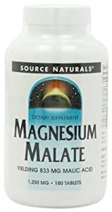 Source Naturals Magnesium Malate, 1250Mg, 180 Tablets