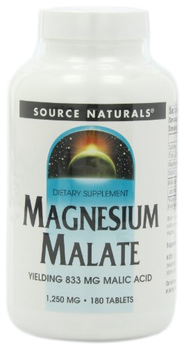 Source Naturals, Magnesium Malate, 180 Tabletten
