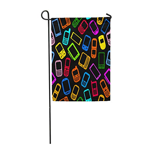 (Semtomn Garden Flag Colorful Phone Made Mobile Devices on Smartphone Pattern Cellphone 12