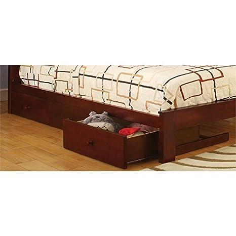 Muebles de América Gosney 3 - cajones para almacenamiento bajo la cama cajones en color cerezo: Amazon.es: Hogar