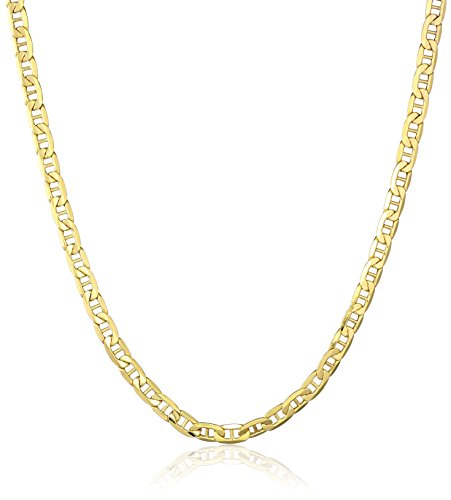 Men's 10k Yellow Gold 5mm Marine Link Chain Necklace, 20