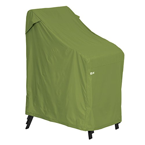 Classic Accessories Sodo Stackable Patio/Outdoor Chairs Cover – Tough and Weather Resistant Patio Set Cover, Herb (55-349-011901-EC)