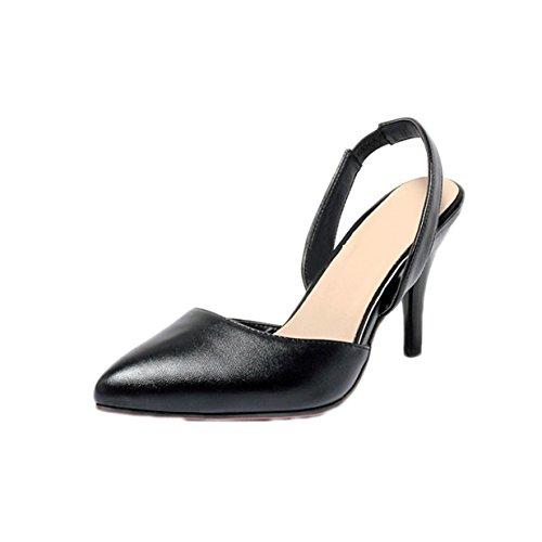 Escarpins Noir Pointue Travail Fête Haut Talon Sandales Lalang Femmes de Chaussures ax8IHH