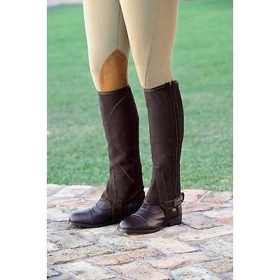 Dublin Childs Easy Care Half Chaps Small Black ()