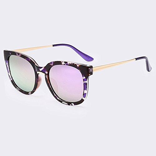 Goggle de gafas piernas aleación alta UV400 de Fecha de sol de femenino C01Purple sol calidad de gafas de gafas oculos mujer moda C04Brown de TIANLIANG04 en EUqf5w6