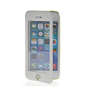 SHOPPINGBOX Slim Fit Thin PU Flip Hard Back Etui Case Cover For Apple iPhone 5C White