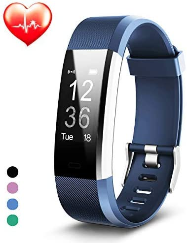 Fitness Trackers, Heart Rate Monitor, Fitness Watch Activity Tracker Waterproof Smart Band, Calorie Sleep Monitor Pedometer for Women and Men
