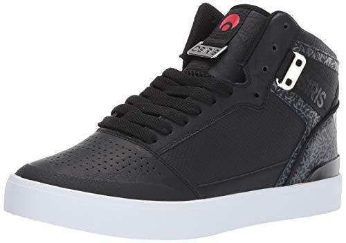Osiris Men's Cultur Skate Shoe, Black/red/Elephant, 8.5 M US (Osiris Top High Shoes Black)
