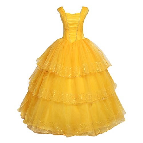 Belle And For From Adults Costume The Beast Beauty (CosplayDiy Women's Dress for Beauty and the Beast Princess Belle Cosplay)