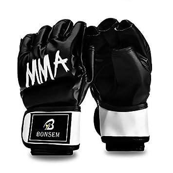 aa1b8e15b4c8 Demi-Doigt Gants De Boxe MMA UFC Sparring Mitaines Pour Les Arts Martiaux  Formation Sandbags