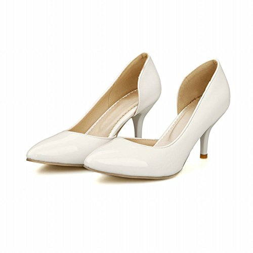Charm Foot Fashion Womens High Heel Pumps Shoes White WTEMlVoLx