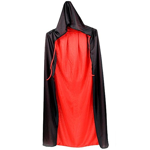 Goth Ideas Halloween (LIYZU Black Red Reversible Dress Goth 32.5