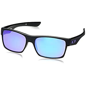 Oakley Twoface OO9189-08 Iridium Rectangular Sunglasses,Matte Black,60 mm