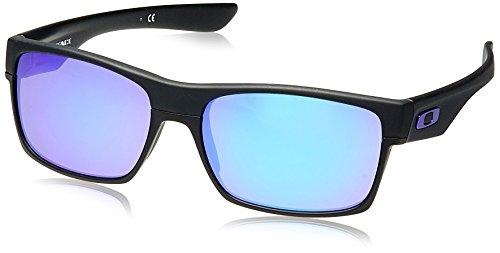Oakley Men's OO9189 TwoFace Square Sunglasses, Matte Black/Violet Iridium, 60 ()