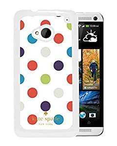 Fashionable And Unique Designed Kate Spade Cover Case For HTC ONE M7 White Phone Case 49
