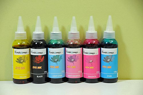 Dye Based Ink Refill - INKXPRO 600ml High Definition dye Ink refill set for CIS/CISS or refillable cartridges using T79 ink: Stylus Photo Printers 1400, 1410, Artisan 1430 (This is NOT sublimation ink)