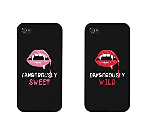 365 Printing Dangerously Sweet and Wild Black Matching Best Friends Phone Cases Halloween Gifts