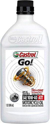 Castrol 06103 GO! 10W-40 4T Motorcycle Oil - 1 Quart Bottle, (Pack of 6) High Strength 1 Qt Bottles