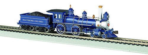Bachmann Industries 4-4-0 American Steam DCC Sound Value Baltimore & Ohio with Coal Load Locomotive (HO Scale) ()