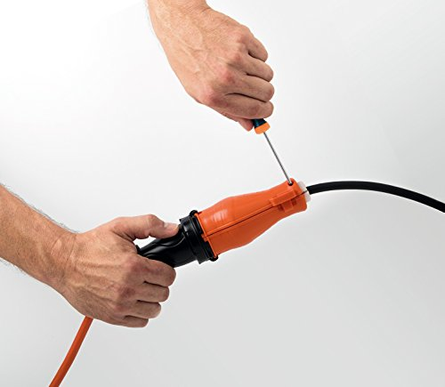50 ft Extension Cord with Connector Safety Seal Protector Weatherproof - 14/3 Gauge - Rated for Outdoors - ETL Listed by Easylife Tech (Image #4)