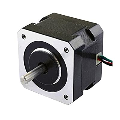 Dual Shaft Nema 17 Stepper Motor 1.8deg 26ncm/37oz.in 12v 0.4a 42x42x34mm 4-wire from OSM Technology Co.,Ltd.