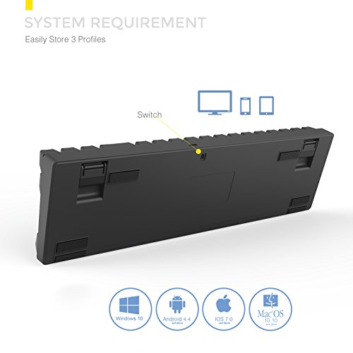 DREVO Calibur 72 clave de juego mecánico teclado RGB LED retroiluminada Tenkeyless inalámbrico Bluetooth 4.0 -UK Layout (Switch Marrón, Negro): Amazon.es: ...