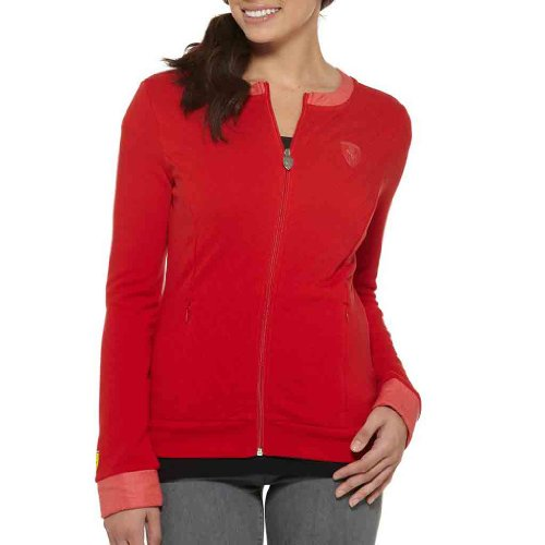 PUMA Women's Ferrari Sweat Jacket, Rossa Corsa, X-Large