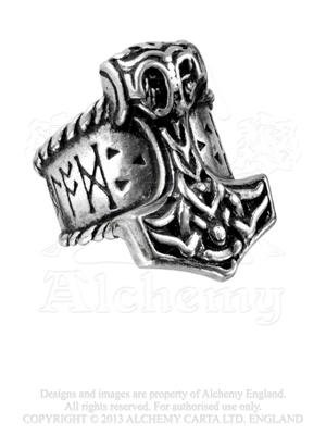 Woman Thor Costume Uk (Thor's Runehammer Ring Size Y, US 12 by Alchemy Gothic, England)