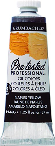 Grumbacher Pre-Tested Oil Paint, 37ml/1.25 Ounce, Naples Yellow Hue (P146G)