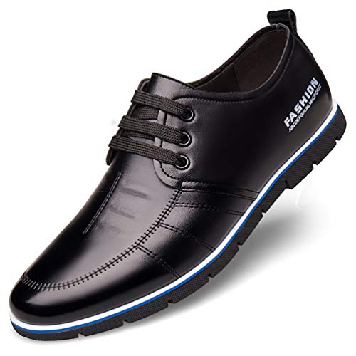 COSIDRAM Men Casual Shoes Summer Sneakers Loafers Breathable Comfortable Walking Shoes Fashion Driving Shoes Luxury Black Brown Blue Leather Shoes for Male Business Work Office Dress Outdoor