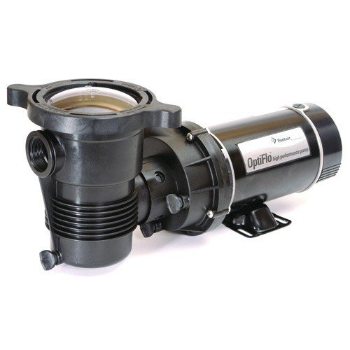- Pentair 347982 OptiFlo Horizontal Discharge Aboveground Pool Pump with Cord and Standard Plug, 1 HP