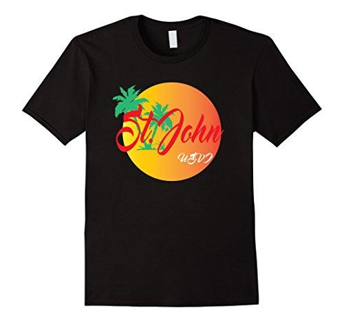 Mens St. John USVI Vacation Paradise T-shirt 2XL Black (Shirt T John St)