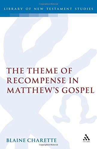 The Theme of Recompense in Matthew's Gospel (Jsnt Supplement Series No 79) ()
