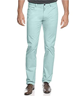 Calvin Klein Men's Slim Fit 4-Pocket Sateen Pants