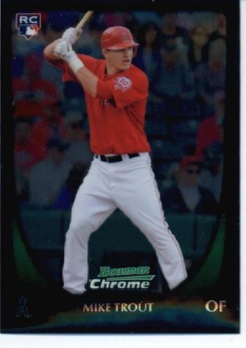 2011 Bowman Chrome Baseball Card 175 Mike Trout Rc Angels Rc Rookie Card Mlb Trading Card In Screwdown Case