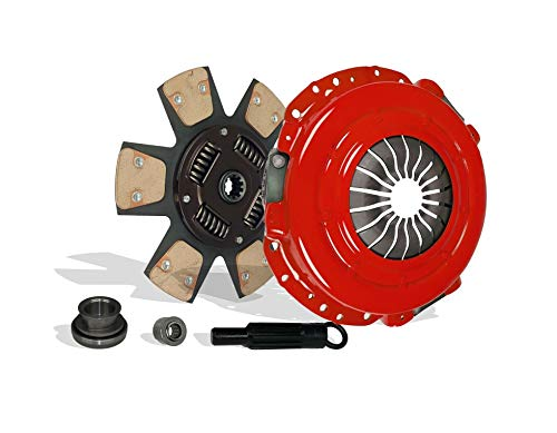 (Clutch Kit works with Ford Mustang Gt Mach 1 Cobra Svt 03-04 4.6L V8 GAS DOHC Supercharged 99-04 4.6L V8 GAS SOHC Naturally Aspirated(Fits from 2/2001 w/ T3650 Trans, 6-Puck Clutch Disc Stage 3))