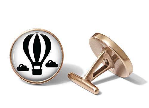 Oakmont Cufflinks Hot Air Balloon Cufflinks Ballooning Cuff Links (Solid Bronze) ()