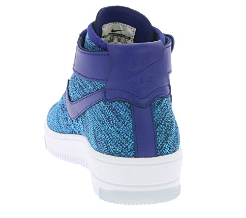 Nike Heren Af1 Ultra-flyknit Mid Basketbalschoen Blauwe Lagune / Deep Royal
