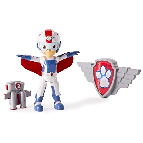 Paw Patrol, Air Rescue Ryder Figure, Removable Pack & Badge (Paw Patrol Badges)